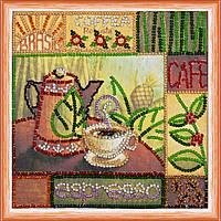Набор для вышивки бисером на натуральном художественном холсте Эспрессо