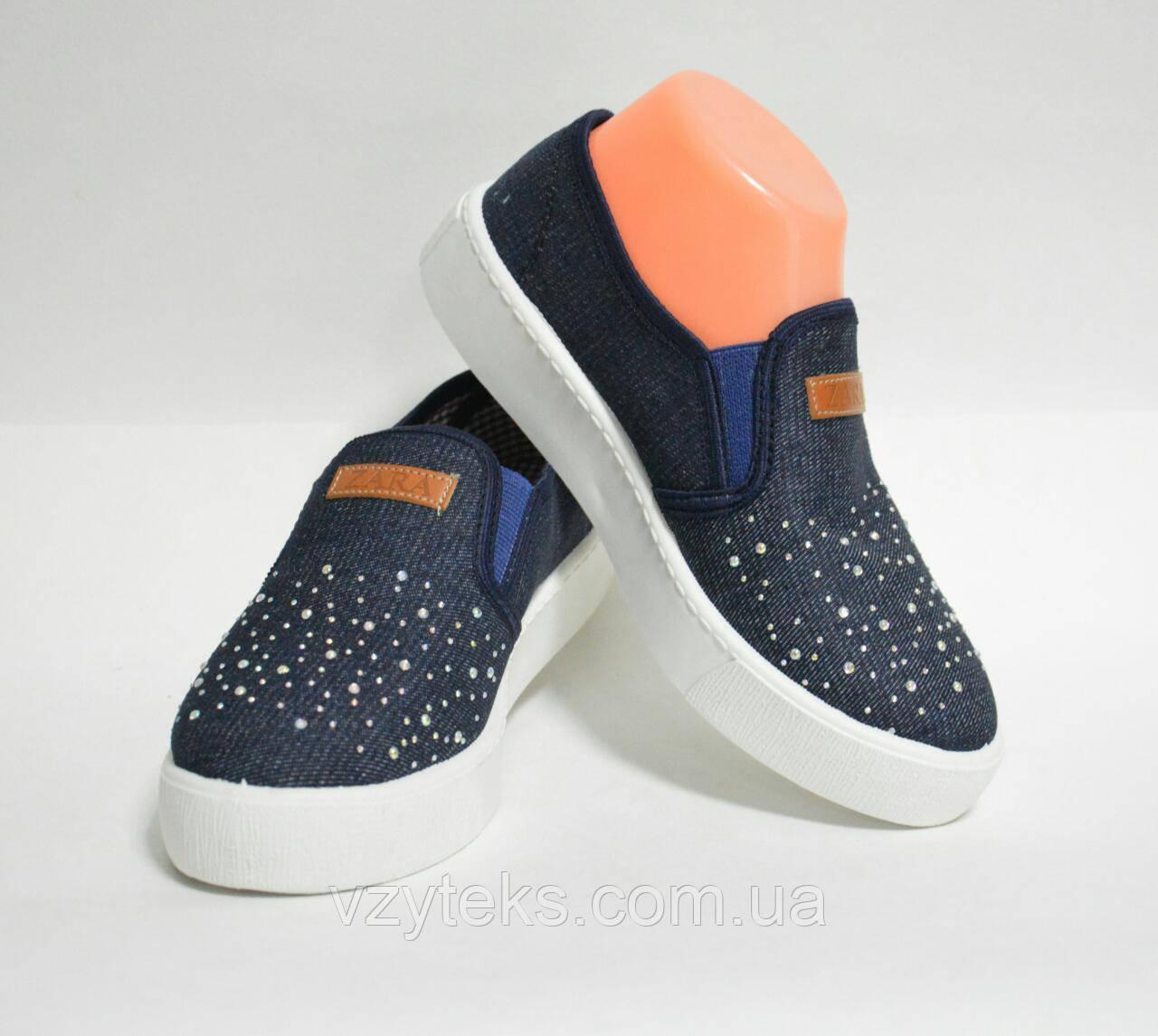 8cc19deb4 Мокасины женские джинсовые с камнями SV - Центр обуви Взутекс в Хмельницком