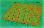 """Крышка для забора LAND BRICK """"черепица"""" желтая 430х530 мм"""