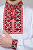 Вишиванка чоловіча біла бавовна, довгий рукав (Україна), фото 4