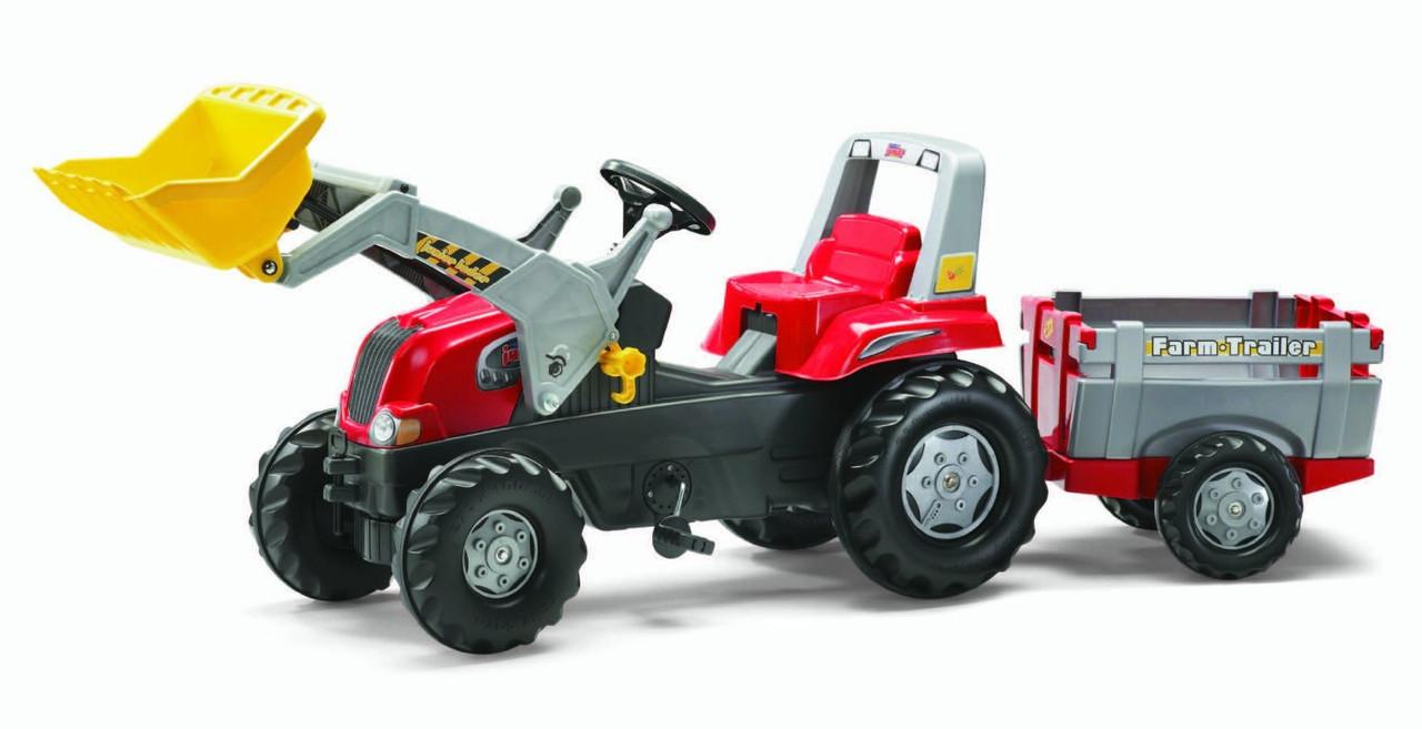 Трактор на педалях с Прицепом и Ковшом Junior Rolly Toys 811397