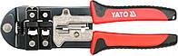 Клещи для обжима кабельных наконечников, тип RJ45, -11, -12 и зачистки проводников YATO YT-22422