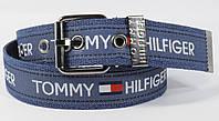 Текстильный ремень для джинсов Tommy Hilfiger 4800-105 синий, ширина 43 мм