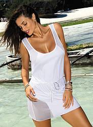 Красивая белая туника-платье Marko M 388 (2) ALICE