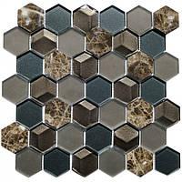 Мозаика мрамор и стекло SB04