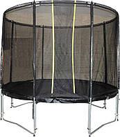 Батут VIP BLACK для детей и взрослых с защитной сеткой, диаметр 244 см ТМ KIDIGO BTV244