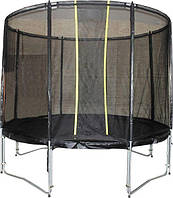 Батут VIP BLACK для детей и взрослых, с защитной сеткой диаметр 304 см ТМ KIDIGO BTV304, SBTV304
