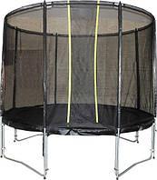 Батут VIP BLACK для детей и взрослых, с защитной сеткой диаметр 426 см ТМ KIDIGO BTV426, SBTV426