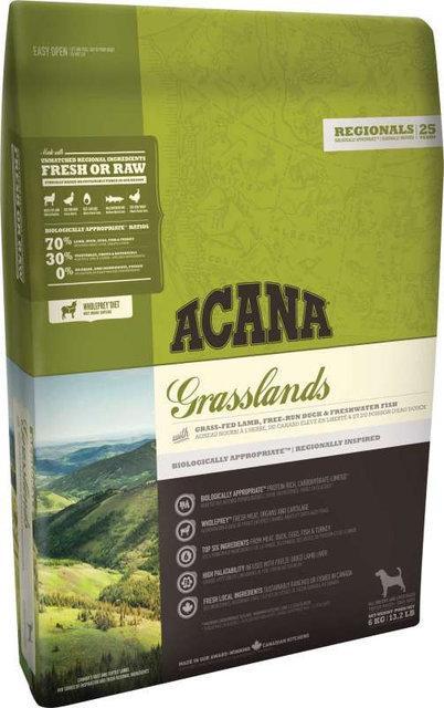Acana Grasslands Dog 6кг - беззерновой корм для собак усіх порід з яловичиною та ягням