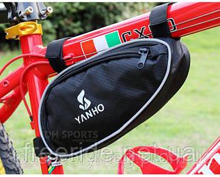 Велосумка под раму Yanho, овальный бардачок