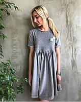 Модное платье на сборке