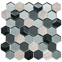 Мозаика мрамор и стекло SB03