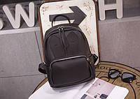 Рюкзак женский с карманом ушками (черный), фото 1