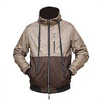 Мужская тонкая куртка на сетке с капюшоном пр-во. Украина KS460-7
