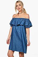 Джинсовое платье с карманами BooHoo