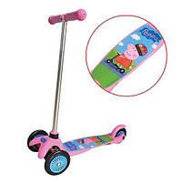 Детский 3-х колесный скутер лицензионный - PEPPA для детей от 3 до 5 лет (Нагрузка 20 кг) ТМ Лицензионные скутеры Т57617