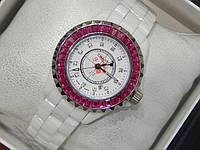 Женские кварцевые керамические наручные часы Chanel Ceramic, White