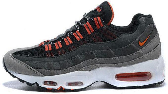 Кроссовки мужские Nike Air Max 95 Grey/Orange, Найк Аир Макс 95