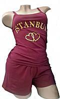 """Пижама женская футболка с шортами """"Bahar"""", Турция Стамбул"""