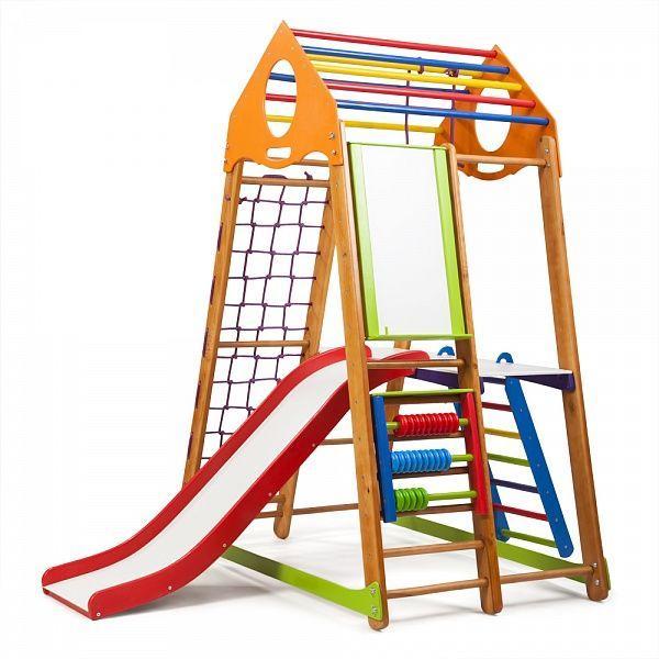 Детский спортивный комплекс раннего развития для дома ТМ SportBaby BambinoWood Plus 3