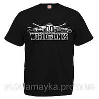 "Футболка ""World of tanks (мир танков)""  логотип"