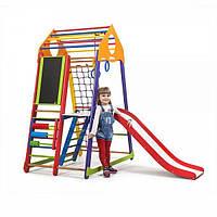 Детский спортивный комплекс раннего развития для дома ТМ SportBaby BambinoWoodColor Plus 3