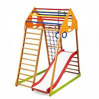 Детский спортивный комплекс раннего развития для дома ТМ SportBaby KindWood Plus 1