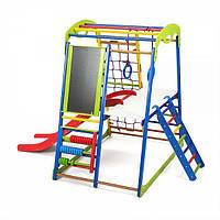 Детский спортивный комплекс раннего развития для дома ТМ SportBaby SportWood Plus 3