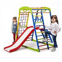 Детский спортивный комплекс раннего развития для дома ТМ SportBaby SportWood Plus 2