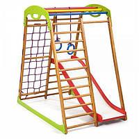 Детский спортивный уголок раннего развития для дома ТМ SportBaby BabyWood Plus 1