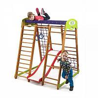 Детский спортивный уголок раннего развития для дома ТМ SportBaby Карапуз Plus 1