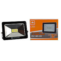 Прожектор светодиодный LED 30 Вт (W) EV-30-01 6400K 2100Lm SMD, фото 3