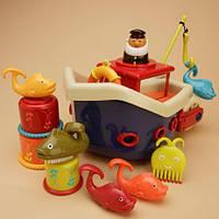 Игровой набор для игры в ванной - ЛОВИСЬ, РЫБКА для детей с рождения до 1 года (12 аксессуаров) ТМ Battat BX1012Z