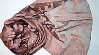 Шарф гипюровый нарядный розово-черного цвета