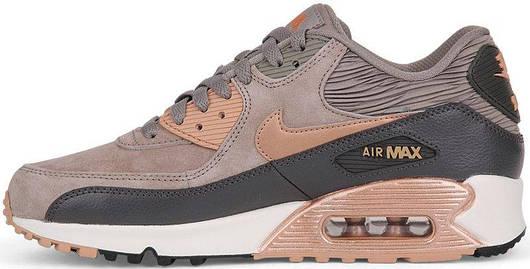 Кроссовки мужские  Nike Air Max 90 Brown, найк аир макс 90, реплика