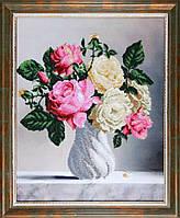 Схема Золотая подкова ЗПК-025 Розы в вазе