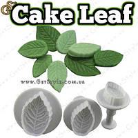 "Плунжер Пелюстка - ""Cake Leaf"" - 3 шт, фото 1"