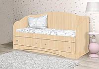 Красивый и надежный детский диван из ДСП (Размер: 90х190 см) ТМ Вальтер-С Венге светлый D-1.09.1