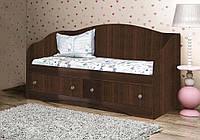 Красивый и надежный детский диван из ДСП (Размер: 90х190 см) ТМ Вальтер-С Орех темный D-4.09.4