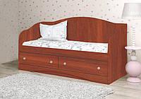 Красивый и надежный детский диван из ДСП (Размер: 90х190 см) ТМ Вальтер-С Яблоня локарно D-2.09.2