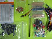 Starter Kit для Arduino (Макетная плата/Перемычки//Резистор/LED/Конденсаторт)