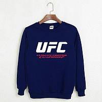 Толстовка мужская UFC темно-синего цвета.