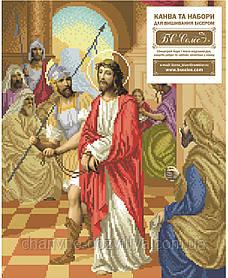 """Схема для вышивки бисером икона """"Ісуса засуджють на смерть"""""""