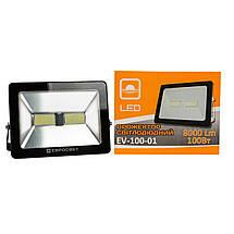 Прожектор светодиодный LED 100 Вт (W) EV-100-01 6400K 8000Lm SMD, фото 3