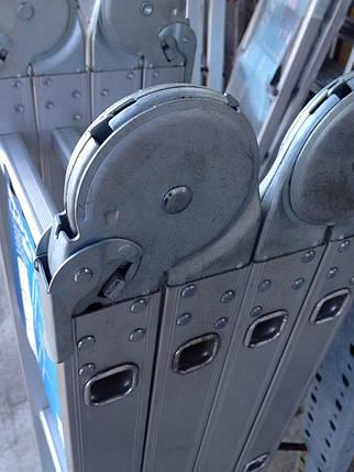 Універсальні сходи Трансформер 5Х4 чотири секції за п'ять сходинок, 5,7 метрів висота, фото 2