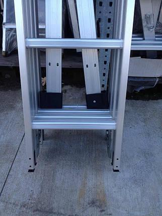 Универсальные лестница Трансформер 5Х4 четыре секции по пять ступенек, 5,7 метров высота, фото 2