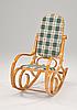 Кресло качалка ольха ткань клетка