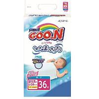 Подгузники на липучках для маловесных новорожденных 1,8-3 кг (размер SSS, унисекс, 36 шт) ТМ Goo.N 753656