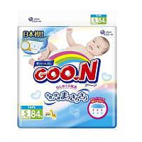 Подгузники на липучках для детей весом 4-8 кг (размер S, унисекс, 84 шт) ТМ Goo.N 853074