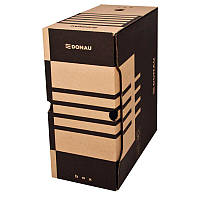 Бокс для архивации документов Donau,155мм, коричневый (7663301PL-02)